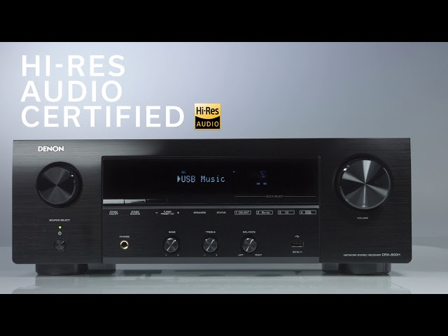 Denon — Introducing the DRA-800H Stereo Receiver