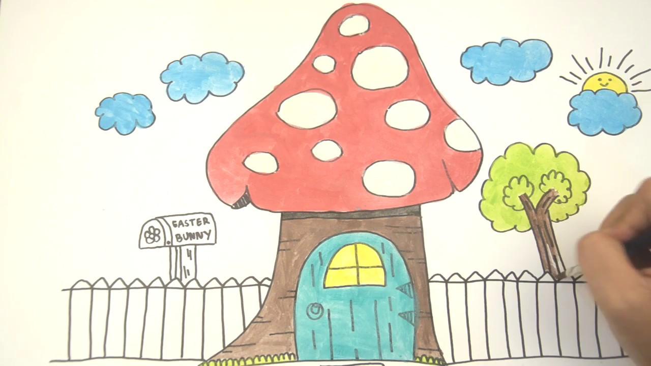 57 Gambar Kartun Rumah Jamur