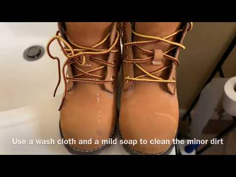 HOW TO CLEAN A TIMBERLAND BOOTS AT HOME / DIY / TODDLER BOY BOOTS