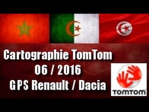 Mettre à jour Cartographie Tomtom 6.2016 GPS Renault Dacia. Algérie Maroc Tunisie