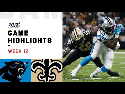 Panthers vs. Saints Week 12 Highlights | NFL 2019