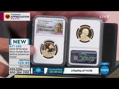 2019 PF70 NCG Mary Golda Ross Native American Dollar - YouTube