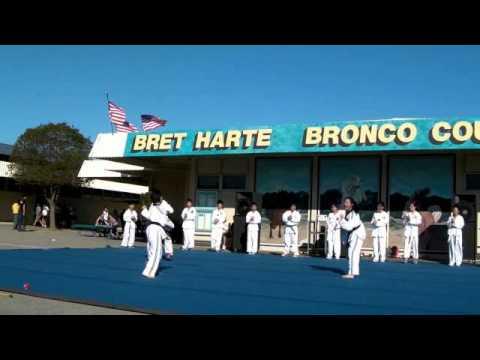 Bret Harte Middle School 2012 Cultural Fair ; Korea Taekwondo