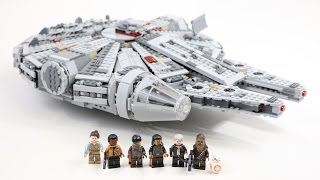LEGO Star Wars Millennium Falcon 2015 Edition (Timelapse & Review) - Set 75105
