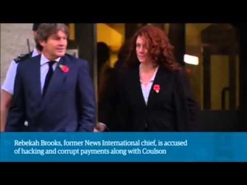 Phone hacking trial  Rebekah Brooks and Andy Coulson leave Old Bailey