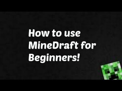 How to use minedraft a minecraft blueprint software youtube how to use minedraft a minecraft blueprint software malvernweather Image collections