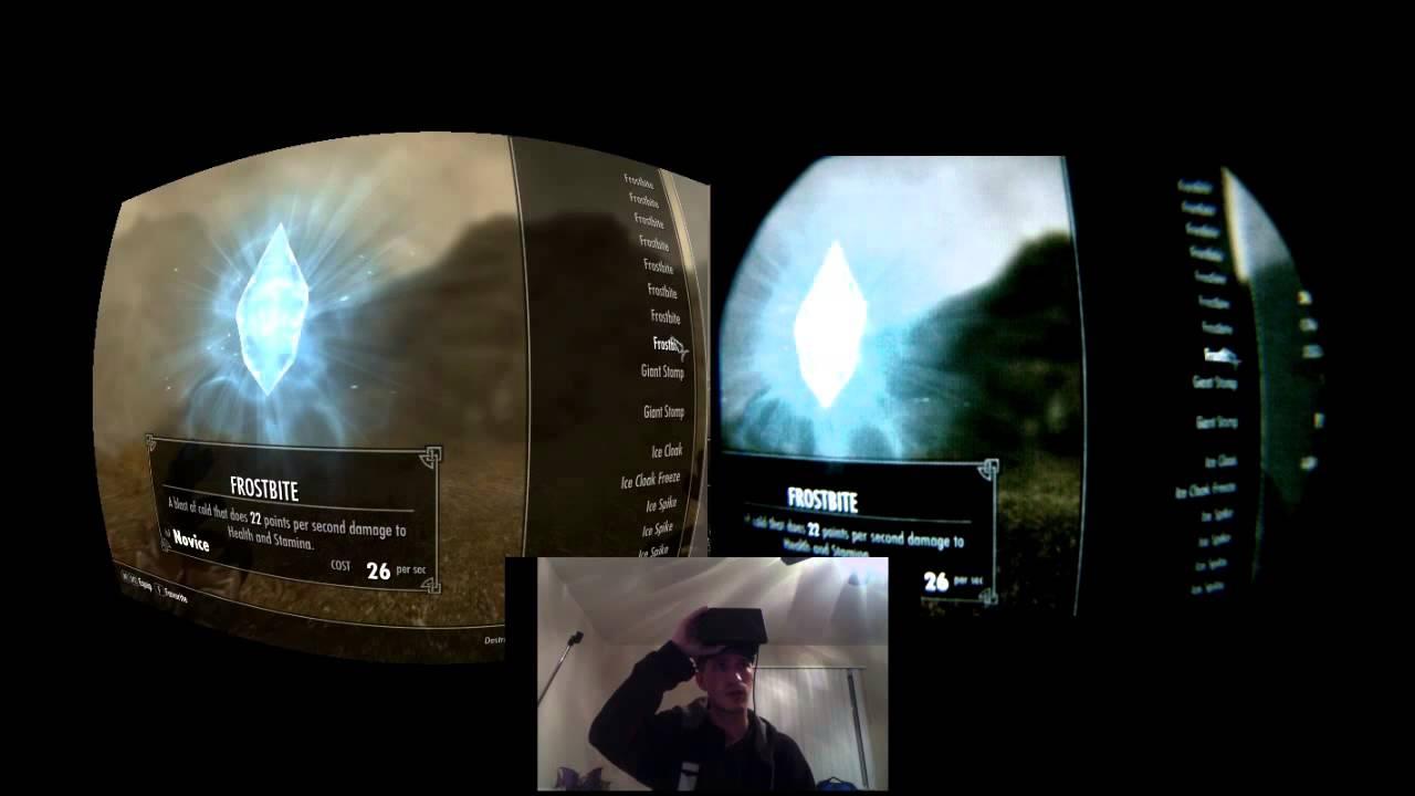 Image from inside Oculus Rift