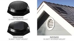 Solatube Roof Mount Solar Attic Fan - 30 Percent Tax Credit - Powered By Solar - Cool Your Attic