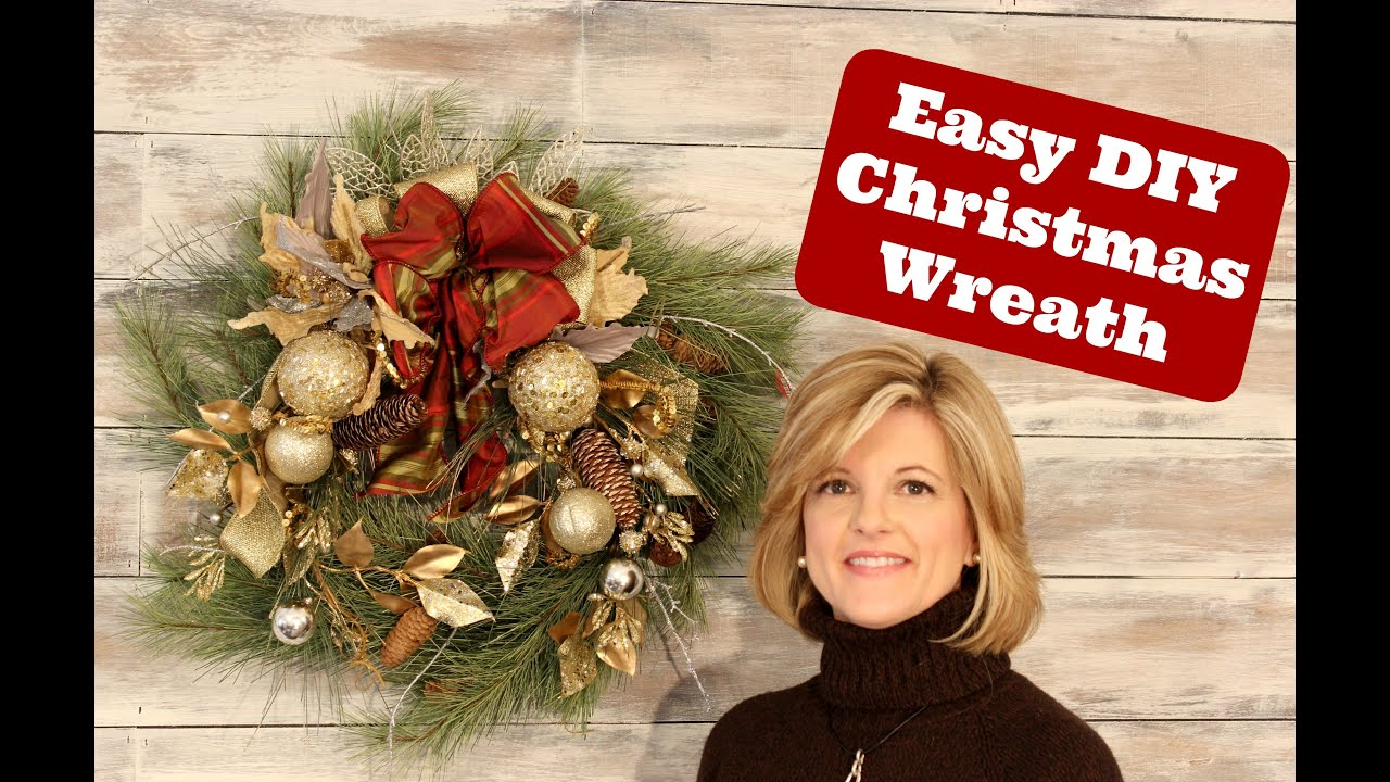 Easy And Stunning Christmas Wreath Idea   YouTube