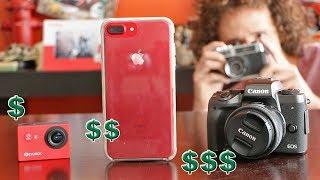 Cámara MUY BARATA vs COSTOSA vs iPhone | ¿Cuál funciona mejor? thumbnail