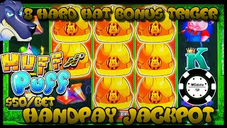 🔒HIGH LIMIT Lock It Link Huff N' Puff JACKPOT HANDPAY 🔒$50 BONUS ROUND Slot Machine