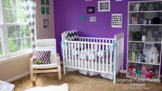 15 Gorgeous Purple Nursery Designs That Will Catch Your Eye