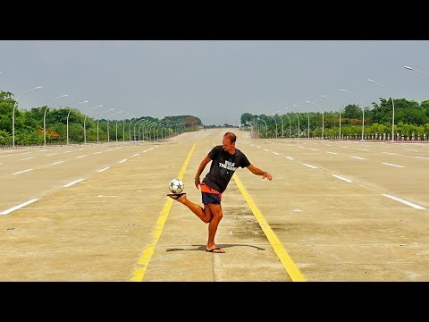 Freestyle Session auf dem Highway in Naypyidaw | Backpacking Myanmar | VLOG #20