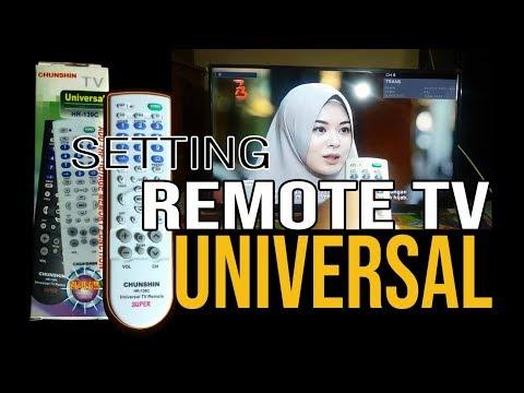 3 CARA SET REMOT KE SEMUA MERK TV - YouTube