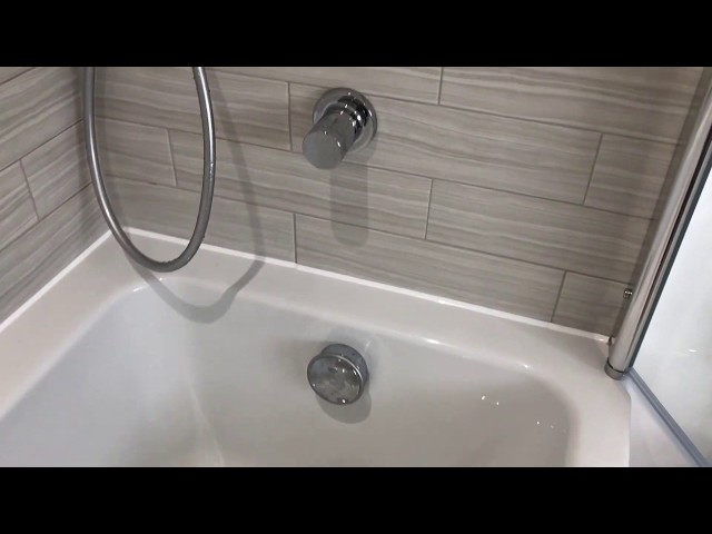 Duel head shower with bath filler