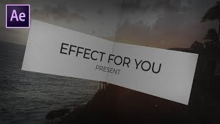 Folding Photo Slideshow in After Effects | After Effects Tutorial | Effect For You