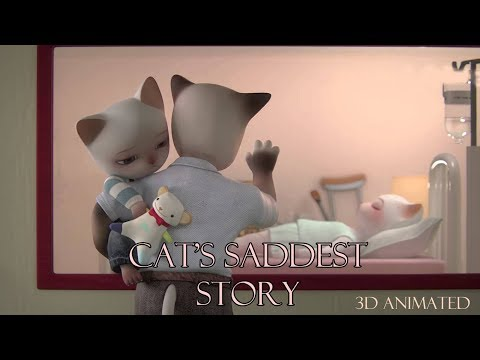Cat's saddest story ever | English | Animated Emotional Cartoon | WIK Entertainment