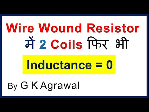 Wire Wound Resistor has 2 coils but no inductance, in Hindi