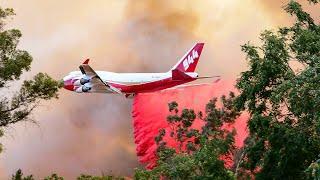 Óriás tüzoltó repülőgépek a kaliforniai erdőtüzek ellen