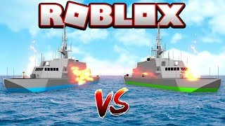 BATTLE OF SHIPS ON THE HIGH SEAS IN ROBLOX!