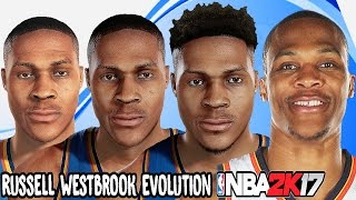 Russell Westbrook Evolution - Face Comparison (NBA 2K9 - NBA 2K17)