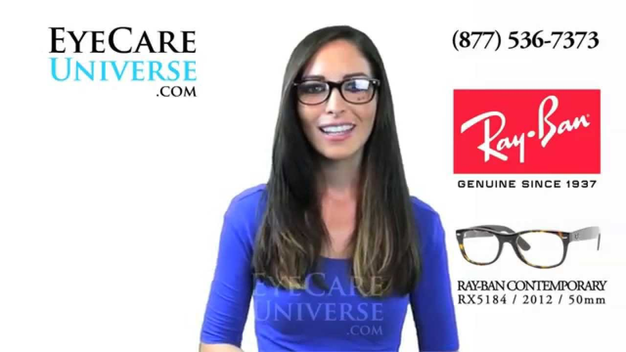 e1430deaebbaa Ray Ban New Wayfarer Frame RX5184 2012 50mm Review - YouTube