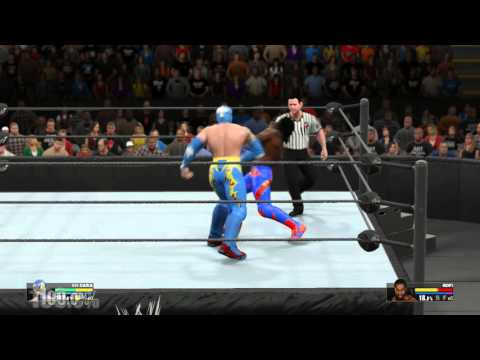 WWE2K15 обзор на син-кару и чуточку багов. WWE2K15 Sin-cara prewiew and bags.