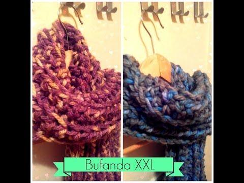 mejor valor 91043 08d14 Bufanda fácil de Ganchillo - Easy Crochet Scarf