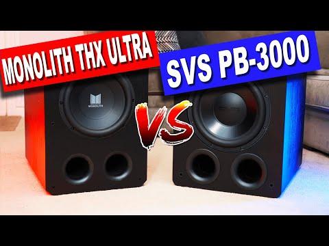 "Monolith 12"" THX Ultra vs SVS PB-3000 Subwoofer | MONSTER Subs FACE-OFF! [4K HDR]"