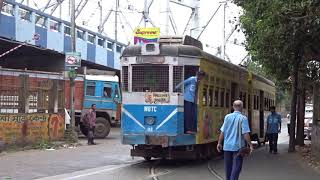 Kolkata Tram route 18 Howrah bridge approach - Rajabazar