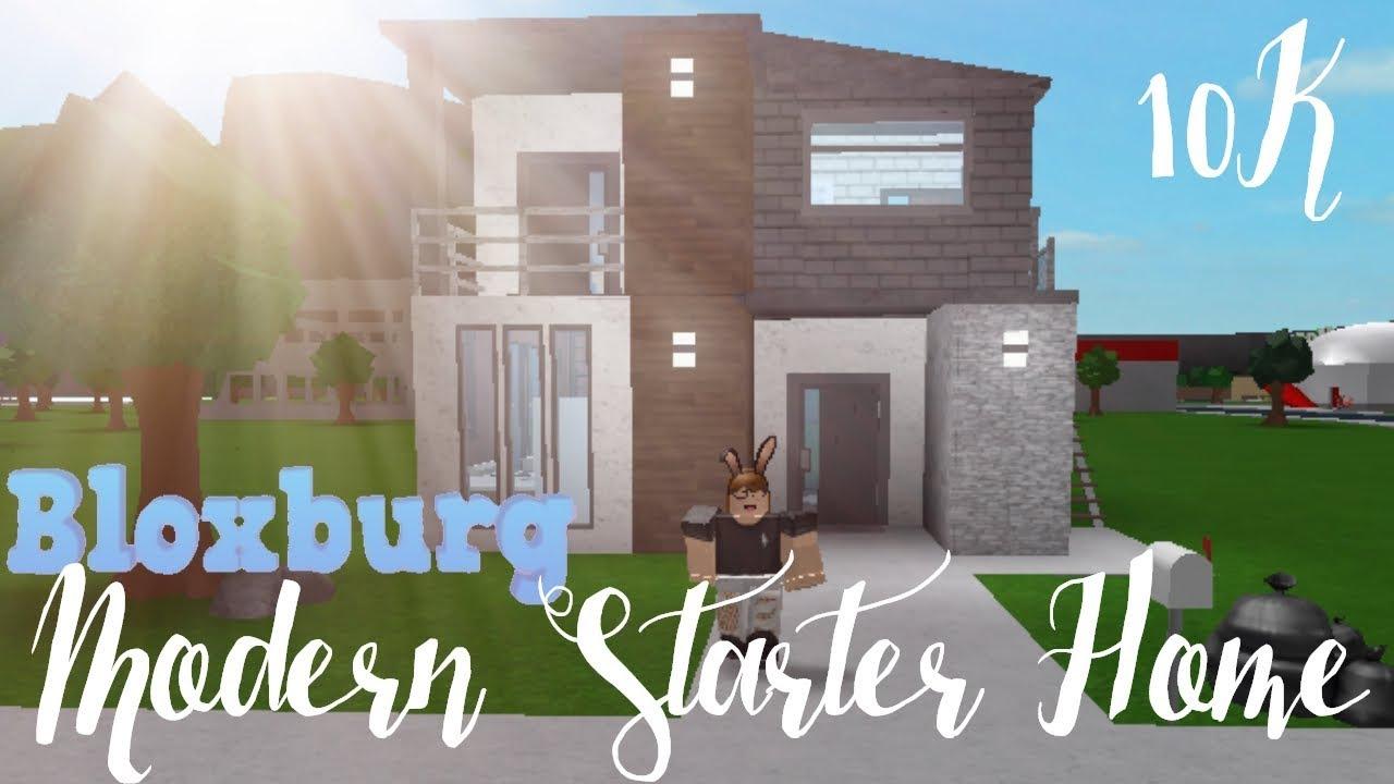 Bloxburg Modern Starter Home 10k Youtube