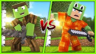 Minecraft  - WOOD ARMOUR VS LAVA ARMOUR!