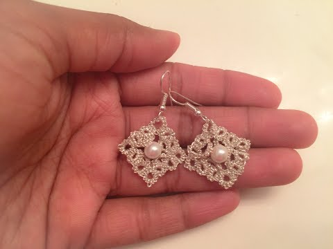 Tatting Pattern - Tatting Frivolite Earrings1