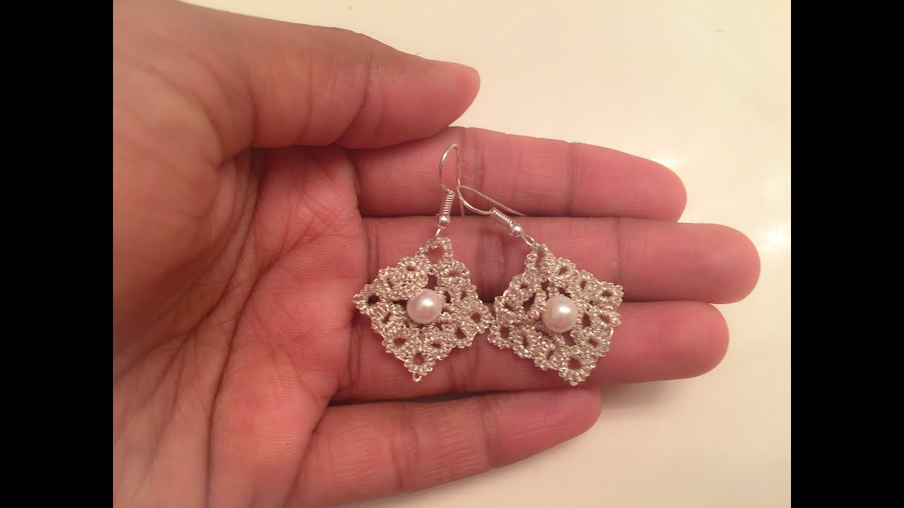 Tatting Pattern Frivolite Earrings1