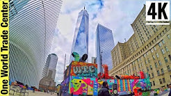 ⁴ᴷ⁶⁰ Ground Zero One World Trade Center New York City Walking Tour 2020   9/11 Memorial Walking Tour