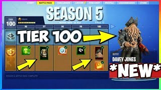 SEASON 5 BATTLE PASS Theme TIER 100 Skin LEAKED! (Fortnite Battle Royale)