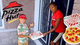 Gummy Pizza Delivery Prank on Mommy   Kids Pretend Play   FamousTubeKIDS