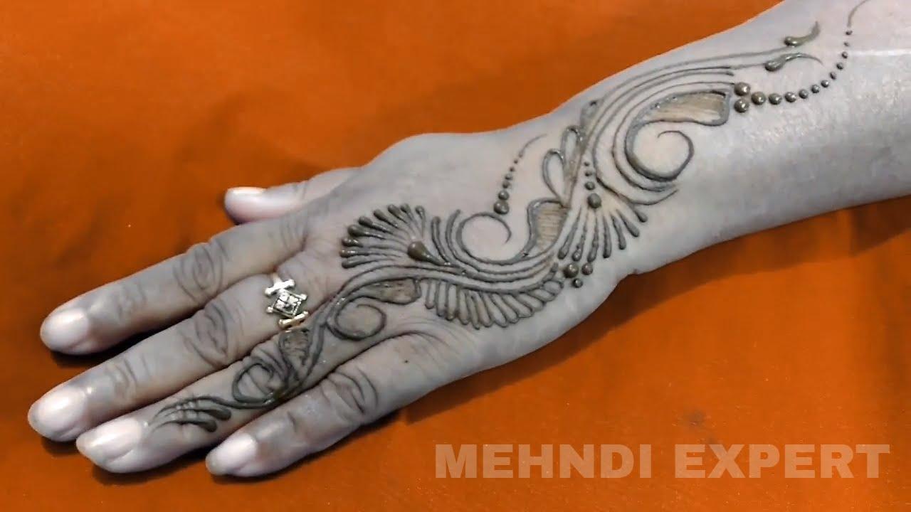 Mehndi Design Tutorial Dailymotion : New modern style arabic mehndi design ★ step by