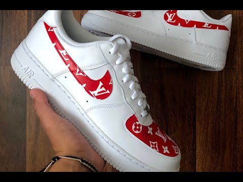 LOUIS VUITTON CUSTOM AIR FORCE ONE (AIRBRUSHED) | TIMELAPSE