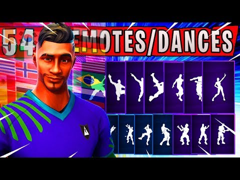 """Fortnite NEW """"MIDFIELD MAESTRO"""" Skin Showcased with 54 Dances/Emotes (NEW Red Card Emote) WORLDCUP"""