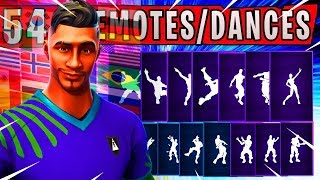 "Fortnite NEW ""MIDFIELD MAESTRO"" Skin Showcased with 54 Dances/Emotes (NEW Red Card Emote) WORLDCUP"