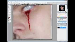 Создание эффекта крови на фотке