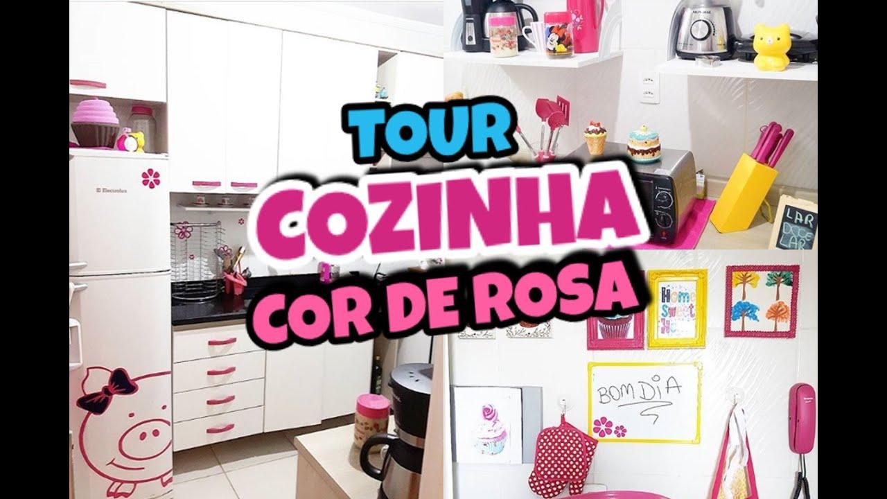 TOUR PELA COZINHA  INSCREVASE NO CANAL com Minii Rosa  YouTube