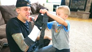 HE RIPPED MY CAST OFF!! Challenge GONE WRONG!