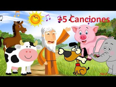 En el Arca de No� - Sonidos de los Animales y 5 canciones + (canciones infantiles)