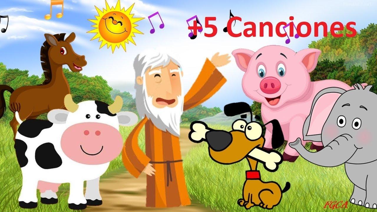 En el Arca de Noé - Sonidos de los Animales y 5 canciones + (canciones infantiles)