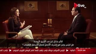في حوار مع سي إن بي سي عربية.. الرئيس السيسي يؤكد حرص مصر على استقرار الأمن الإقليمي