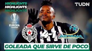 Highlights | FK Partizan 4 - 1 FC Astana | Europa League - J 6 - Grupo L | TUDN