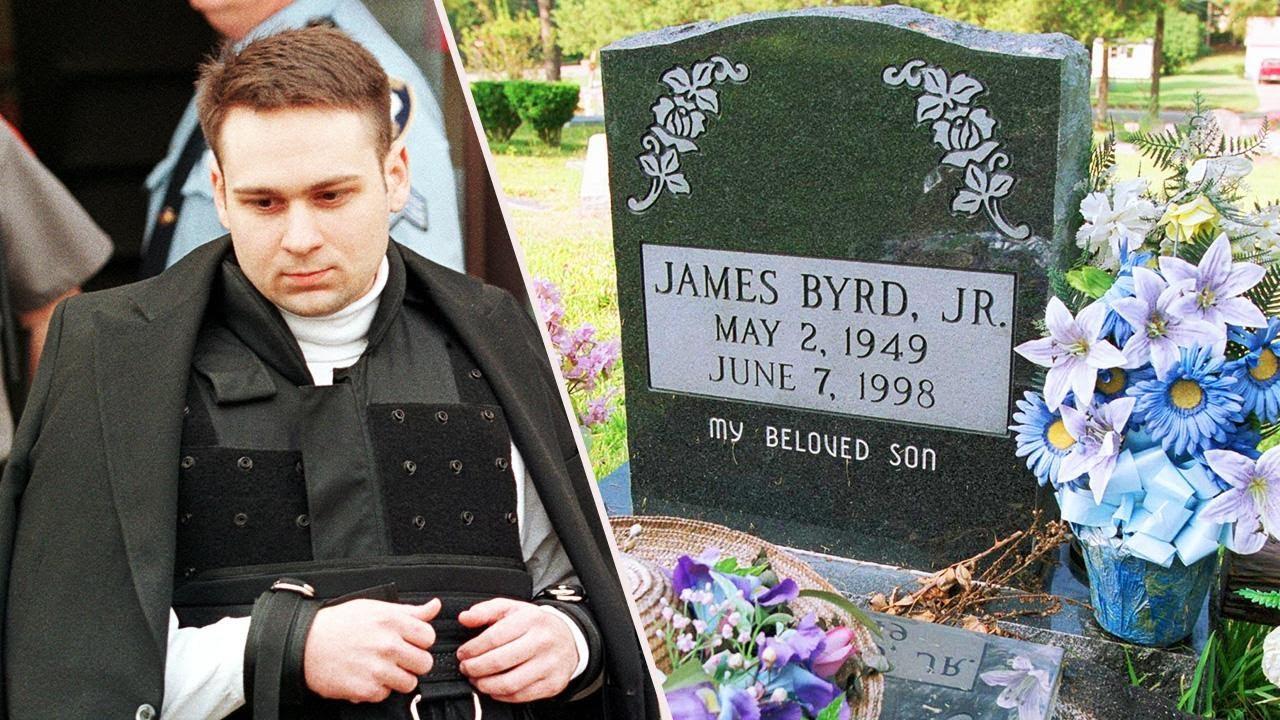 John William King (kiri), dan makan James Byrd Jr, seorang pria kulit hitam yang disiksa secara sadis dan brutal dalam kasus rasial paling mengerikan d