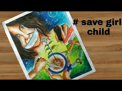 don t kill me maa save girl child painting with easy steps youtube rh youtube com save girl child face painting save girl child painting image